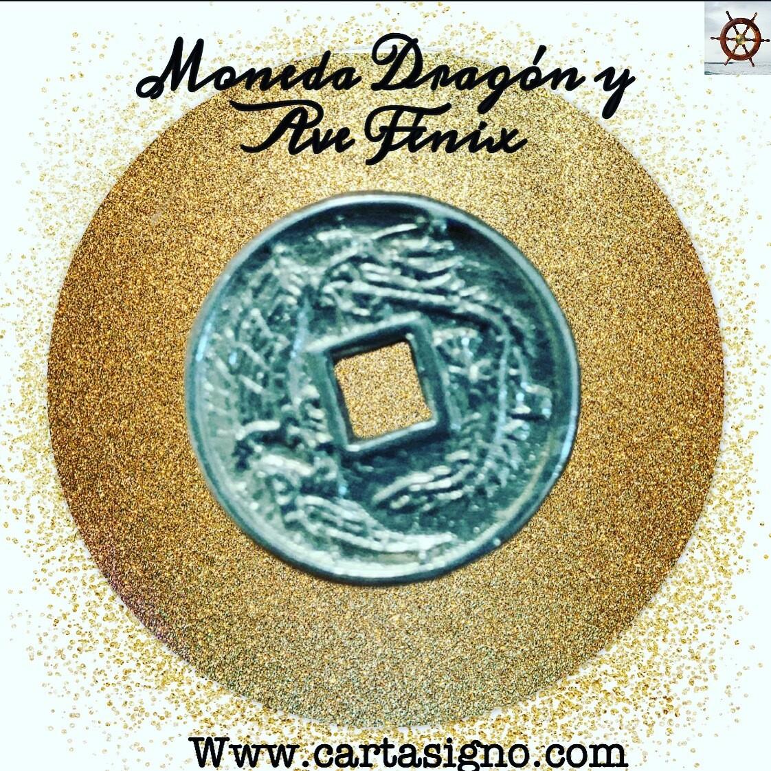 Moneda Dragón y Ave Fénix
