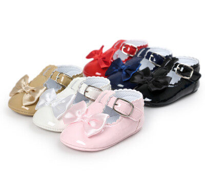 Newborn Baby Girls Shoes PU leather Buckle First Walkers