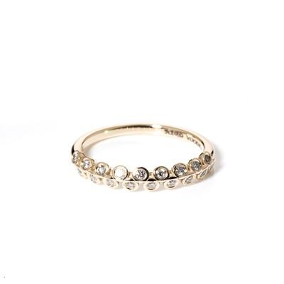 Naamah Half-Eternity Moissanite Ring