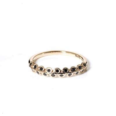 Naamah Half-Eternity Black Diamond Ring