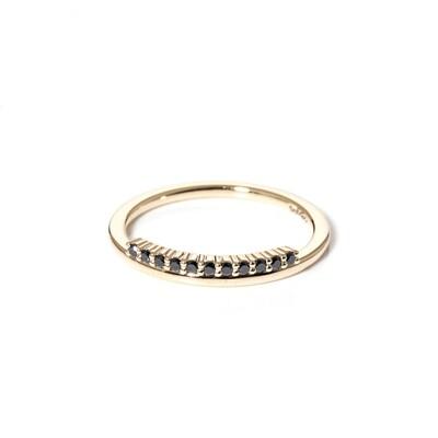 Fringe Black Diamond Ring
