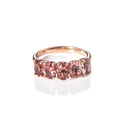 Oval Tourmaline Band - Ombre Pink