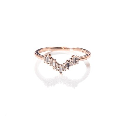 Emet Tower Diamond Ring