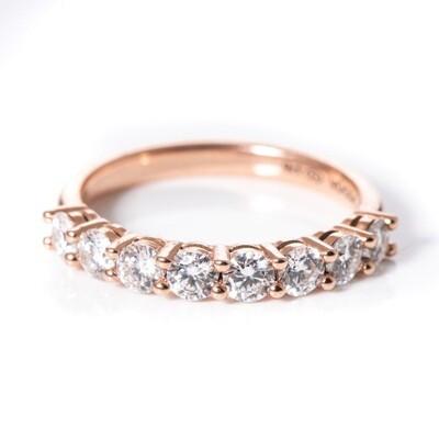 Half-Eternity Moissanite Ring   3mm