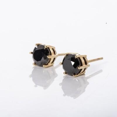 Double Bezel Black Diamond Studs
