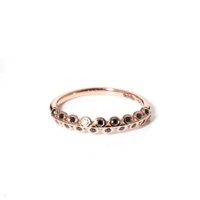 Naamah Rose Gold Black Diamond Ring