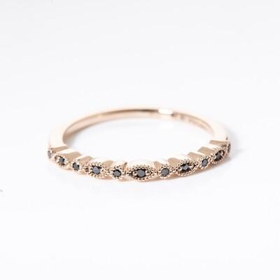 Botanica Black Diamond Ring - Small