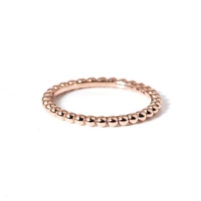 Medium Rose Gold Bobble Band Ring   L