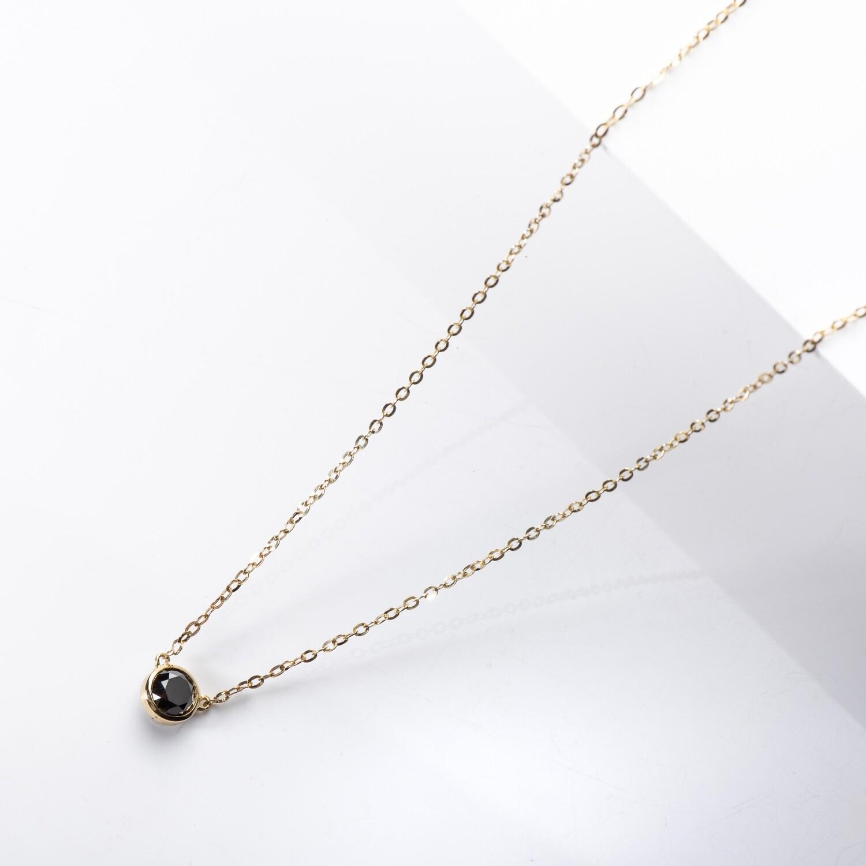 Floating Black Diamond Necklace