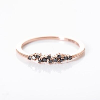 Caviar Black Diamond Ring