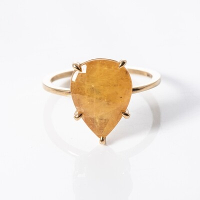 9K Yellow Gold Yellow Sapphire Solitaire Ring
