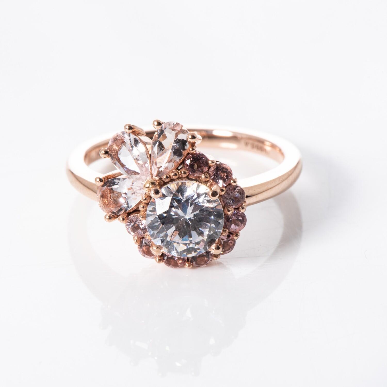 14K Rose Gold Cubic Zirconia Ring