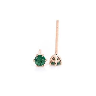 3mm Emerald Studs