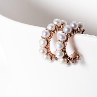 Medium Seed Pearl Hoops