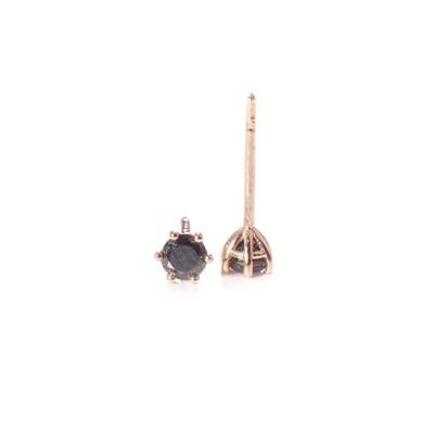 3mm Black Diamond Studs