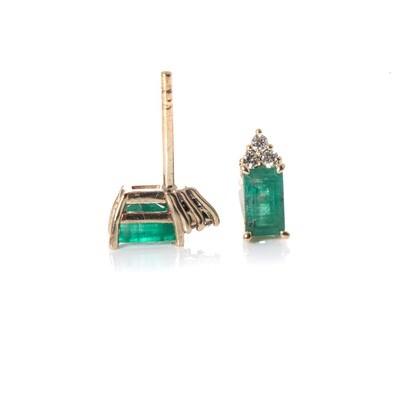 Emerald & Diamond Studs