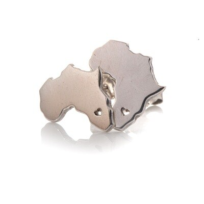 Silver Africa Studs