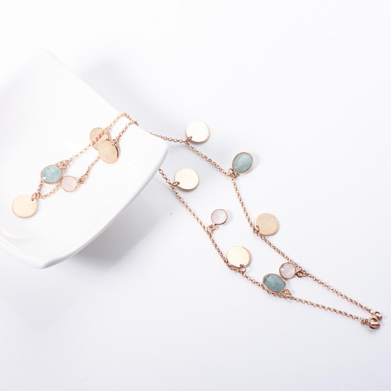 Rose Quartz & Beryl Necklace
