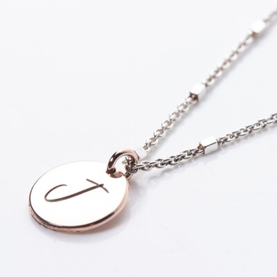 Disc Silver Necklace