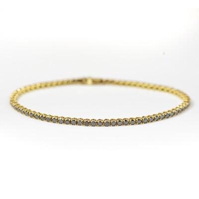 4.25ct Black Diamond Tennis Bracelet