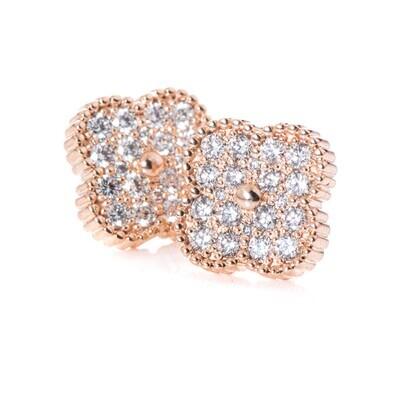 Primrose Studs - White Diamond