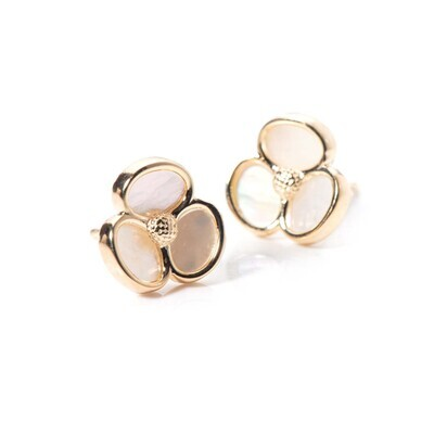 Floral Mother of Pearl Stud
