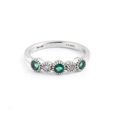 Nevele Emerald & Diamond Ring