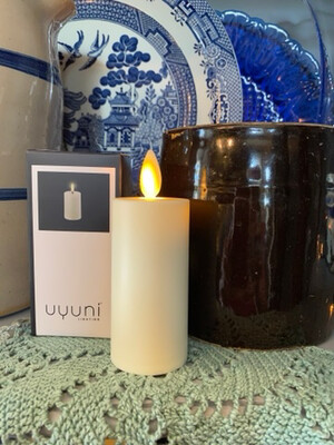 Uyuni Flameless Candle 2in x 3in/ Ivory
