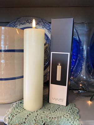 Uyuni Flameless Candle 2.2in x 8.5in/Cream