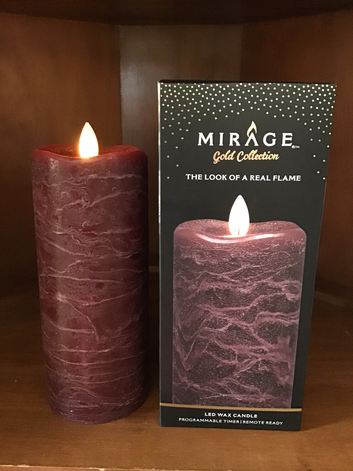 Mirage Flameless Candle 7in /Pomegranate !