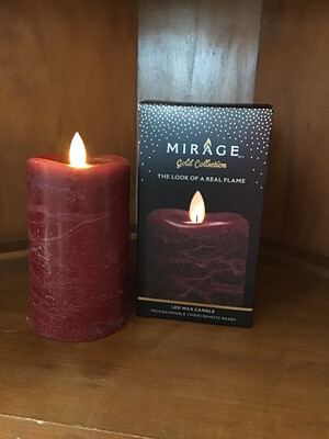"""Mirage Flameless Candle 5"""" (Pomegranate) !"""