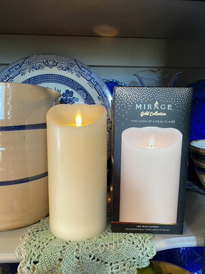 Mirage Pillar Candle 8in/ Cream