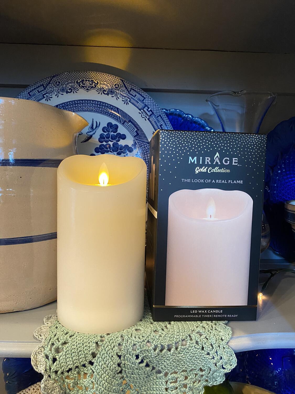 Mirage Pillar Candle 7in/Cream
