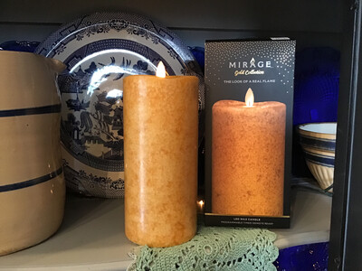 """Mirage Flameless Candle 8"""" /Spice"""