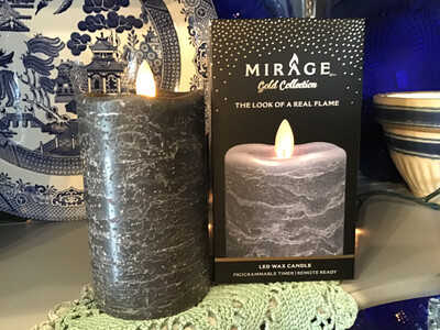 Mirage 3x5in Candle/Frosted Gray, Remote Ready