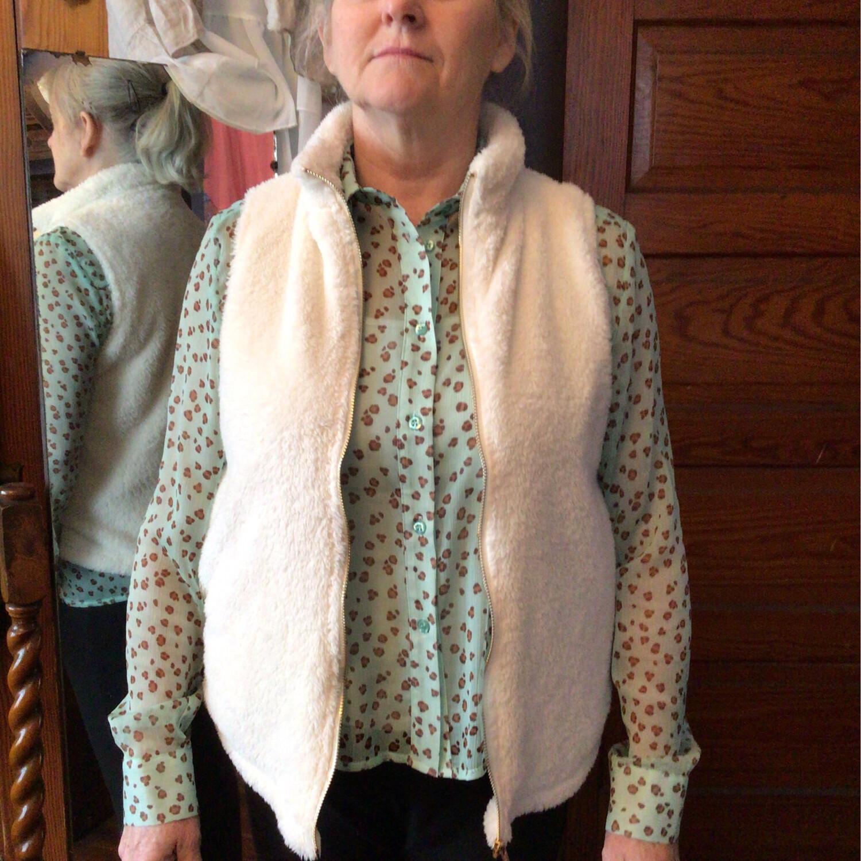 Fuzzy Knit Vest
