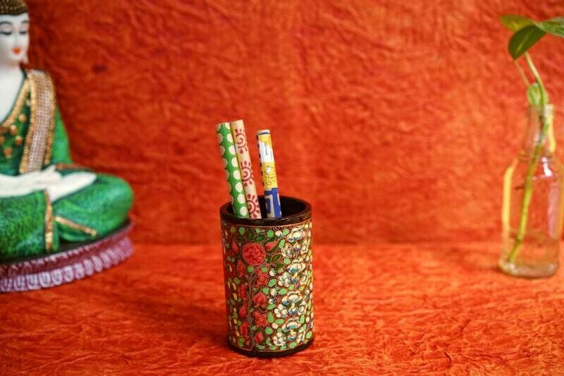 Kashmiri Pen Stand Assorted Colours