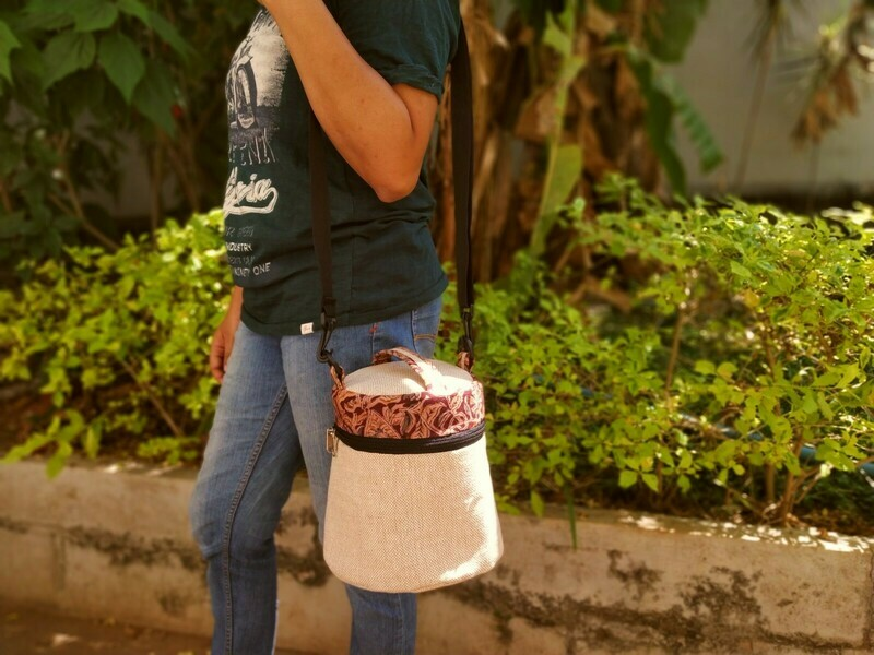 Conical Jute Lunch Bag