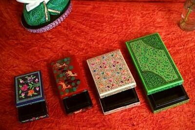 Kashmiri Beautiful Decorative Flat Box Assorted Colors