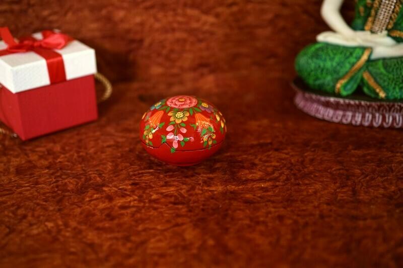 Kashmiri Round Ball Box