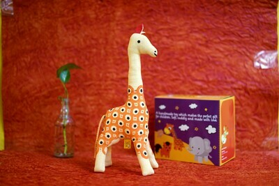 Khadi Cute Giraffe Toy Orange