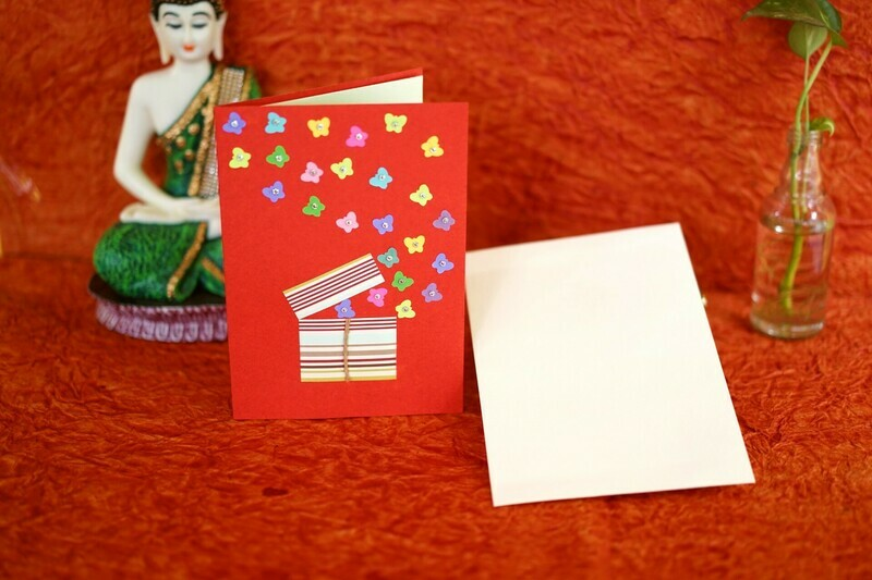 Handmade Greeting Card Assorted Colors