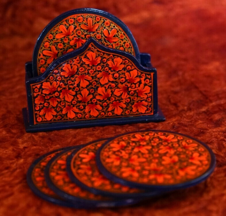 Kashmiri Coaster Set Taj