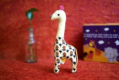 Khadi Cute Giraffe Toy Yellow