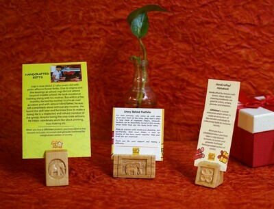 Wooden Carved Picture Holder