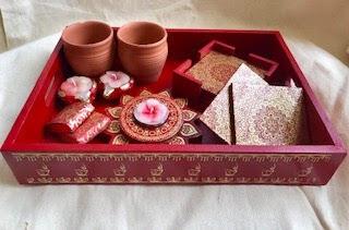 Tray with Coasters, Chocolate, Tealight Holder, Matkas