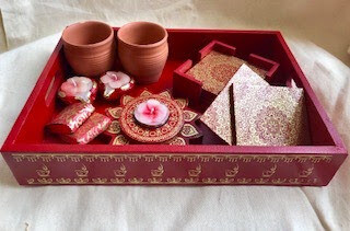 Tray with Coasters, Chocolate, Tealight Holder, Matkas