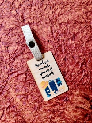 Luggage Tag (Wooden)