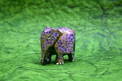 Kashmiri Small Elephant Figurine Assorted Colors