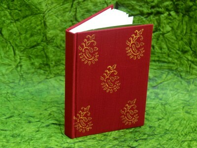 Raw Silk Block Printed Notebook M